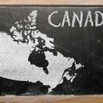 Контурная карта Канады на доске — Стоковое фото