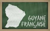 Mapa de contorno de la guayana francesa en pizarra — Foto de Stock