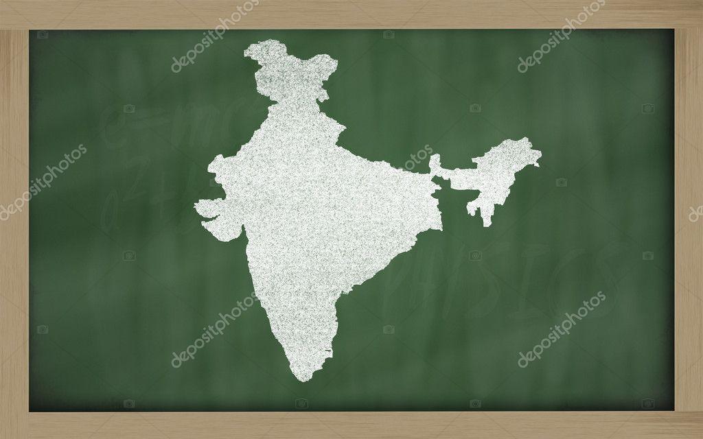 Контурная карта Индии на доске — Стоковое фото © vepar5 ...: http://ru.depositphotos.com/9909055/stock-photo-outline-map-of-india-on.html