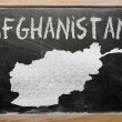 Outline map of afghanistan on blackboard — Foto de Stock