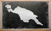 Osnovy mapa nová guinea na tabuli — Stock fotografie