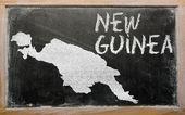 Mapa przeglądowa z nowej gwinei na tablicy — Zdjęcie stockowe