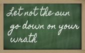 表达式-让不太阳下山您的愤怒 — 图库照片