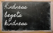 Expression - Kindness begets kindness — Stock Photo