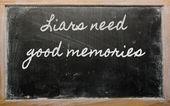 Expression - menteurs besoin de bons souvenirs — Photo