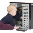 Young child with open computer — Stock Photo #8162064