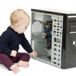 Young child with open computer — Stock Photo #8312470
