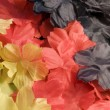 Fabric flower back - Stock Photo