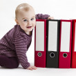 Young child with ring file — Stock Photo