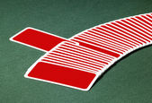 Red playing cards — Stock Photo