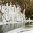 Ice over river - Stock Photo
