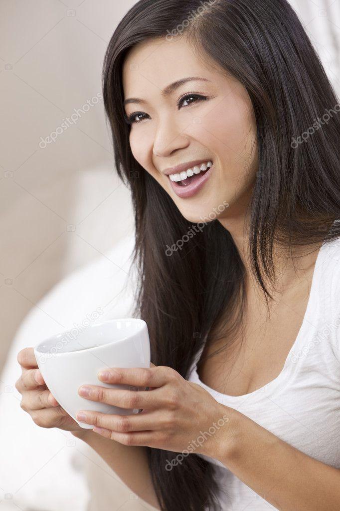 Asian lady image on china teacup authoritative