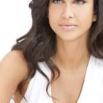 Beautiful Girl Thoughtful Young Hispanic Woman — Stock Photo #8457466