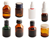 Drugs in glass bottles — Stock Photo