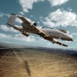 Warhog making desert ground strike — Stock Photo #9541329