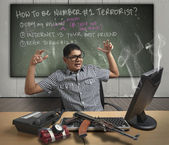 How to be a Terrorist — Stock Photo