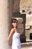 Woman in Ephesus — Stock Photo