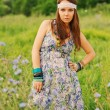 Beautiful hippy woman portrait — Stock Photo