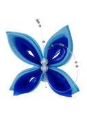 Toy butterfly made of ribbons — Stock Photo