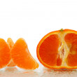 Stock Photo: Fresh tangerine Fruits with slices