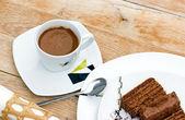 Sade kahve büyük yenileyici olduğunu — Stok fotoğraf