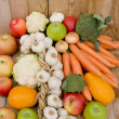 Fruits and vegetables are the basis of healthy eating — Stock Photo