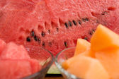 Cantaloupe and watermelon — Stock Photo