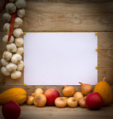 Empty list for message — Stock Photo