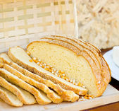 Slices of corn bread — Stock Photo
