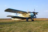 Big airplane (biplane) — Zdjęcie stockowe