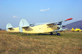 Big airplane (biplane) — Stok fotoğraf