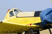Motor e cabine de avião — Fotografia Stock