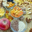 Healthy food - dried fruit - sweets - Stock Photo