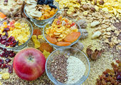 Healthy food - dried fruit - sweets — Stock Photo