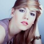 Portrait of sensuality beautiful blond woman — Stock Photo