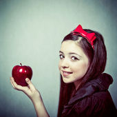 Snow White with an apple — Stock Photo
