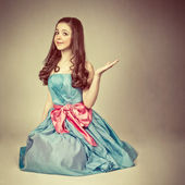 Portrait of a cute young girl dressed as a princess — Stock Photo