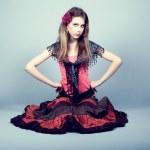 Beautiful gypsy teen — Stock Photo