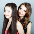 Two happy young girlfriends — Stockfoto #9771290