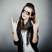 Teen girl rock — Stock Photo