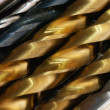 Multi-colored bits of metal in diagonal — Stock Photo #8015110