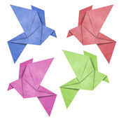 Origami Bird papercraft made from Recycle Paper — Stock Photo