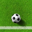 Football ( soccer  ball ) in grass field. - Stock Photo