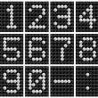 Soccer ball score board number . — Stockfoto