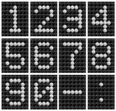 Soccer ball score board number . — Stock Photo