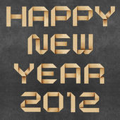 Happy new year 2011 Recycled Paper Craft Background. — Stock Photo