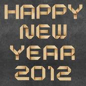Bonne année 2011 recyclé fond de papier craft. — Photo