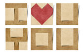 I love you alphabet recycled paper craft — Стоковое фото
