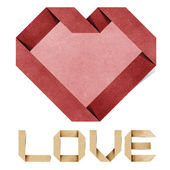 Kocham cię alfabet recyklingu papieru rzemiosła — Zdjęcie stockowe