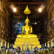 Buddha image in  Wat Sutud, Bangkok, Thailand. - Stock Photo